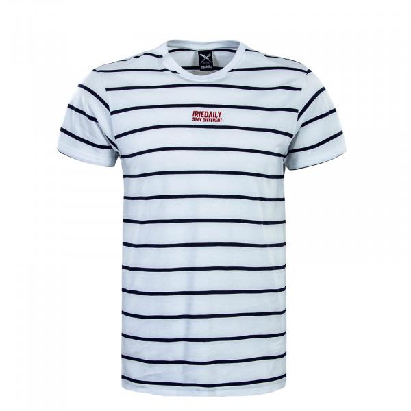 Herren T-Shirt Lone Stripe White Black Red