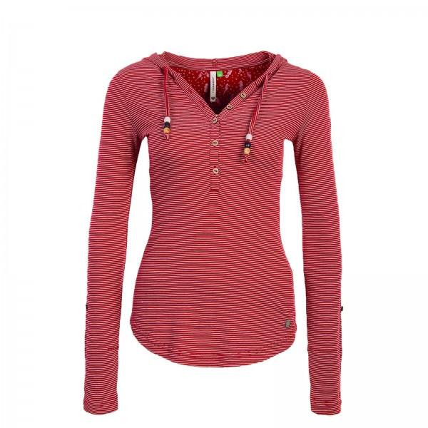 Ragwear Wmn LS Drop Red Stripe