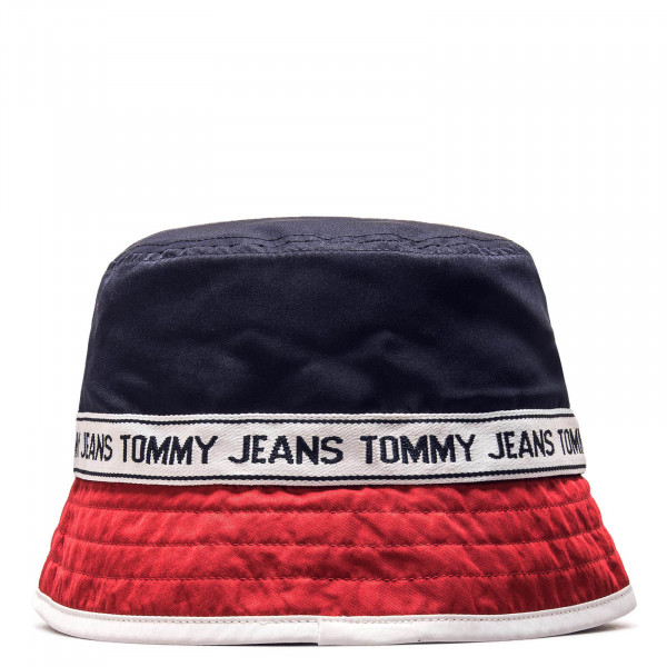 Tommy Hat Logo Bucket Navy Red