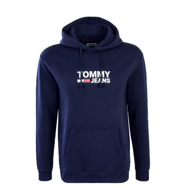 Tommy Hoody Corp Logo Navy
