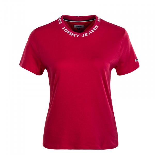 Damen T-Shirt Branded Claret Red