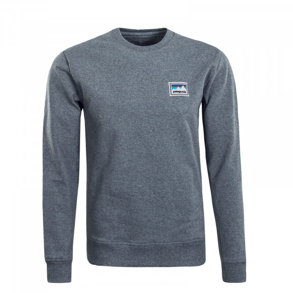 Herren Sweatshirt Shop Sticker Crew Grey