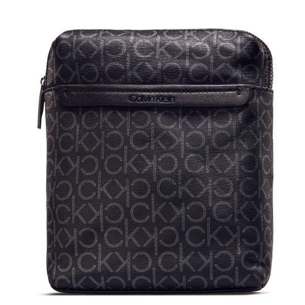 Bag Mono Flat Crossover Black Silver