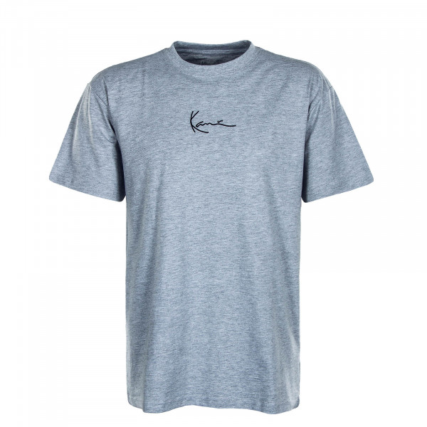 Herren T-Shirt - Small Signature - Grey / Black