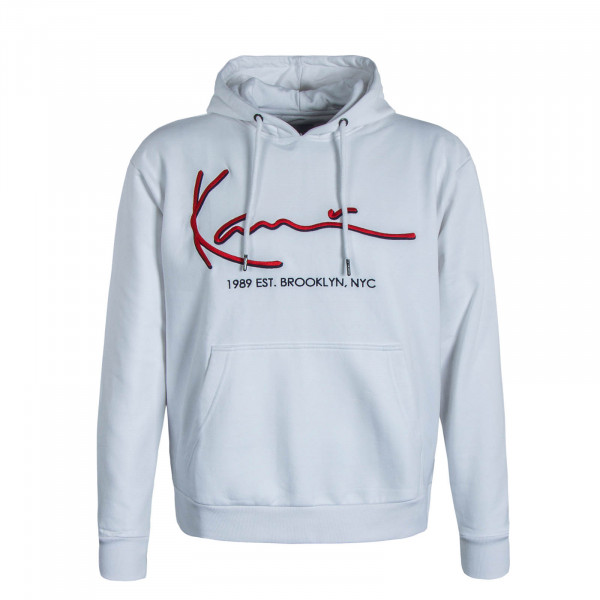 Herren Hoody Signature White Red
