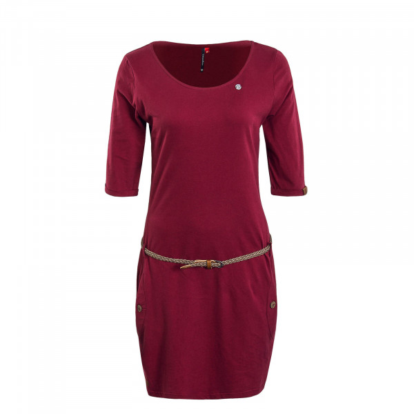 Damenkleid Tanya Solid Wine Red