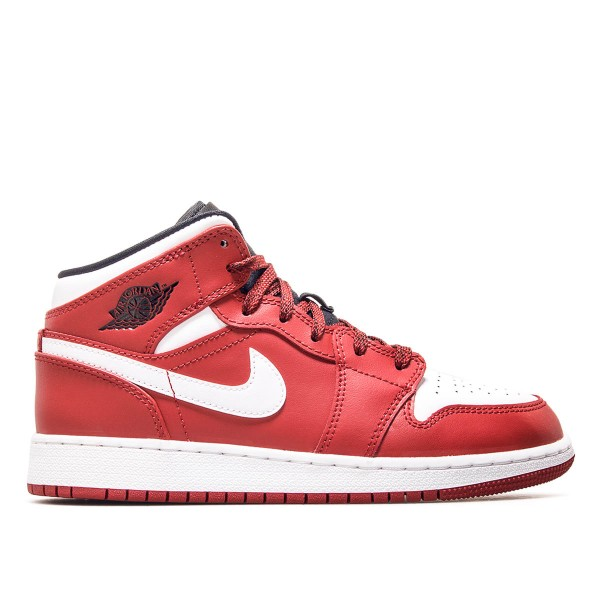 Nike Wmn Air Jordan 1 Mid GS Red White