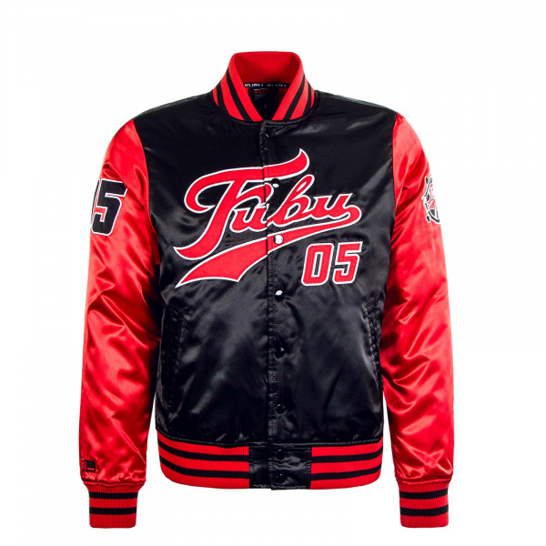 Herren Jacke Varsity Black Red White