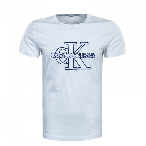 T-Shirt Monogram Front White Blue