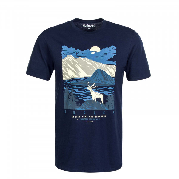 Herren T-Shirt Pendleton Crater Lake S/S Navy