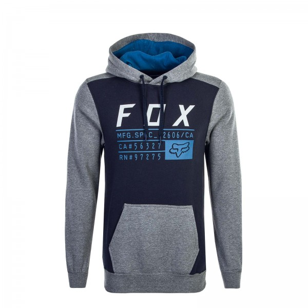 Fox Hoody District 3 Navy Grey