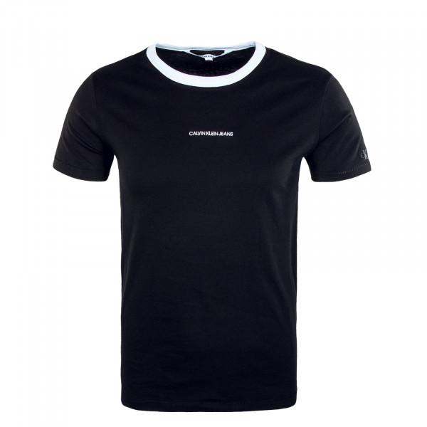 Herren T-Shirt - Ringer Tee - Black