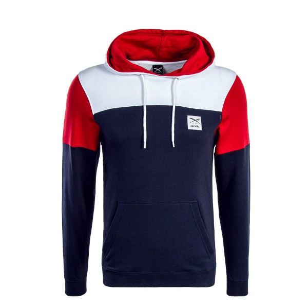 Iriedaily Hoody Blow Up White  Navy Red