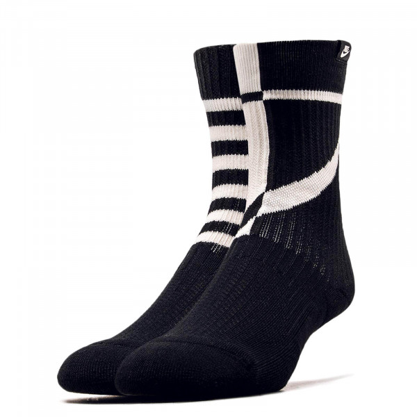Nike Socks 2 Pk Crew Black White