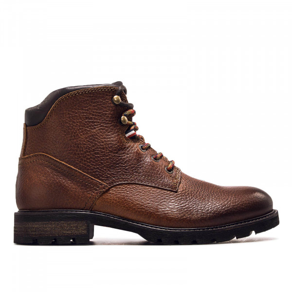 Herren Boot Winter Textured  Leather Cognac