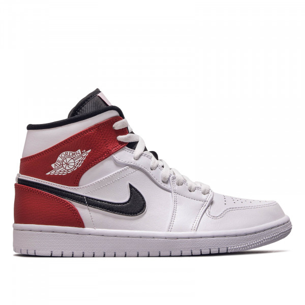 Herren Sneaker Air Jordan 1 Mid White Black Red