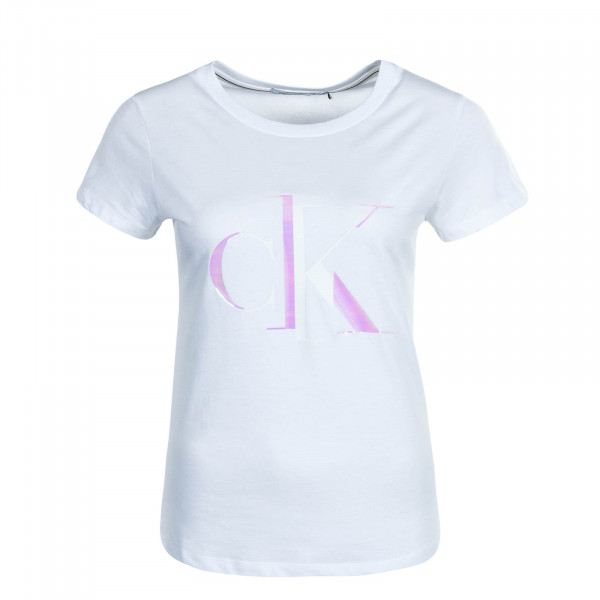 Damen T-Shirt Distorted W Tee Bright White