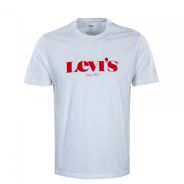 Herren T-Shirt - Relaxed Fit  SSNL Logo MV - White / Red