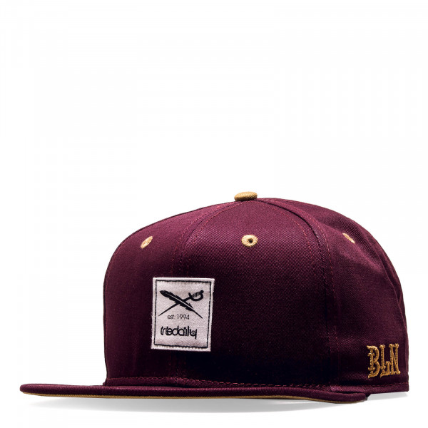 Iriedaily Cap Daily Flag Red Wine Gold