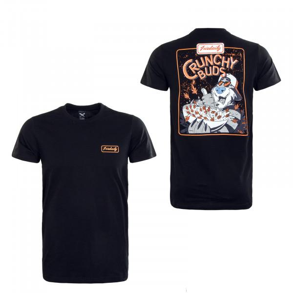 Herren T-Shirt - Crunchy Buds - Black