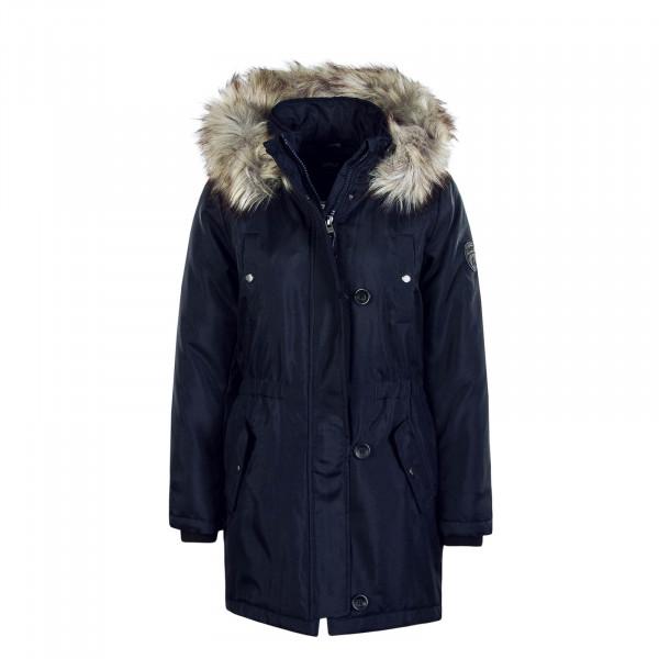 Damen Mantel Iris Fur Navy