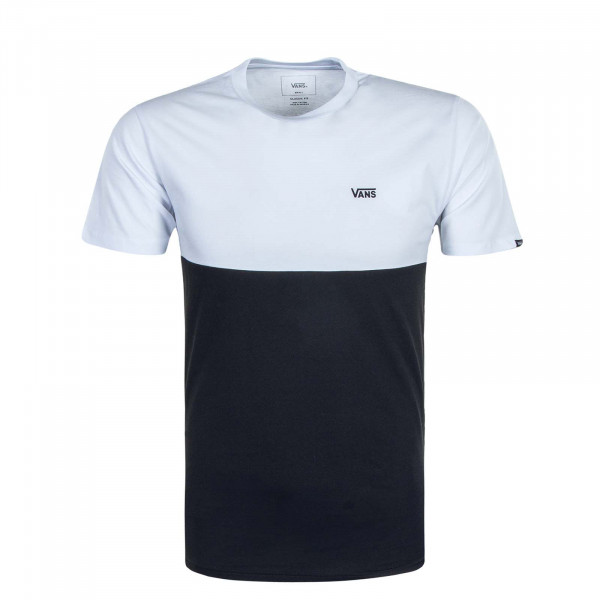 Herren T-Shirt Colorblock White Black