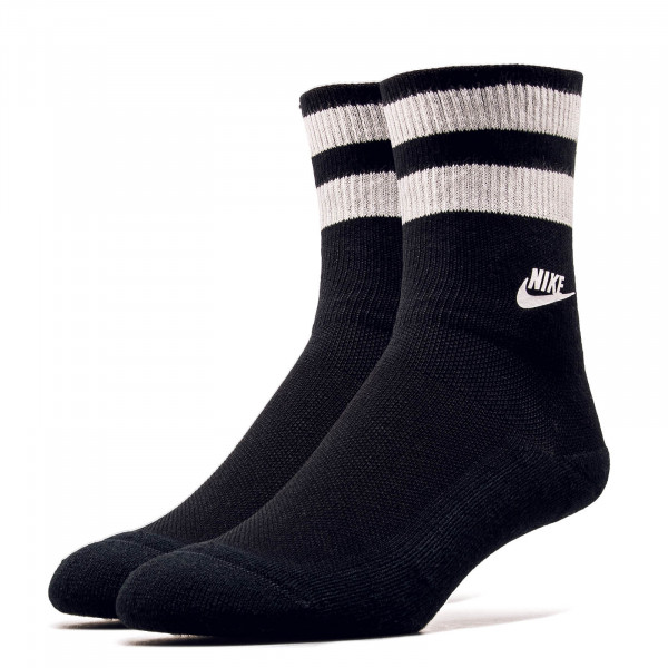 Nike Socks Fold Over Cuff Black White
