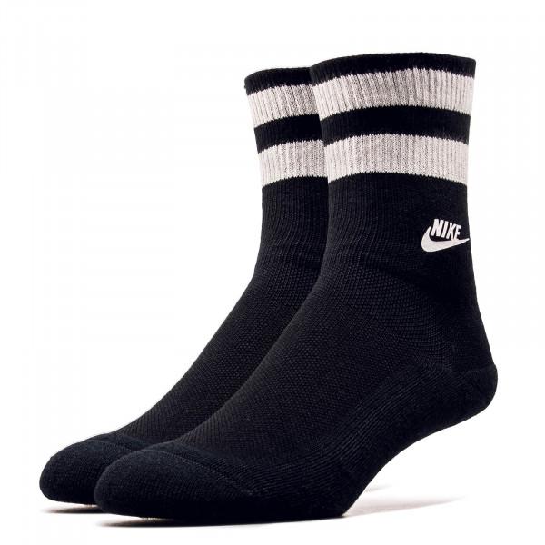Nike Socks Fold Over Cuff Black White