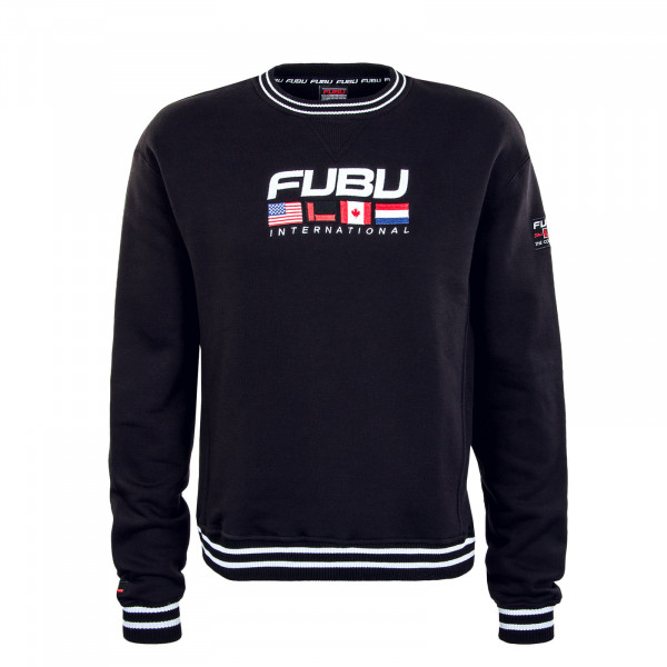 Herren Sweatshirt - Corporate Intnl Sweat - Black / White