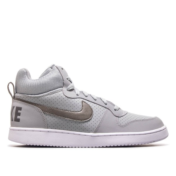 Nike Court Borough Mid Grey White