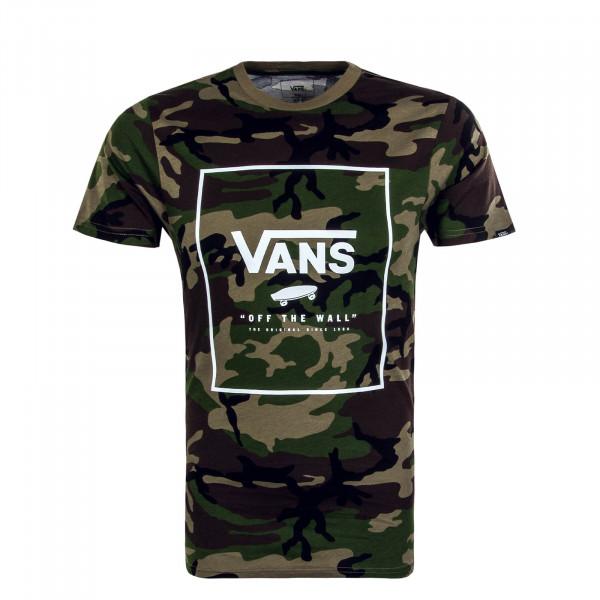 Herren T-Shirt Print Box Camouflage Olive
