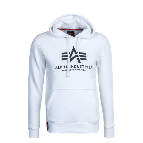 Alpha Hoody Basic White Black