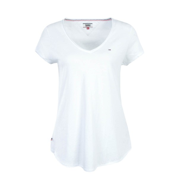 Tommy Wmn TS Soft Jersey V Bright White