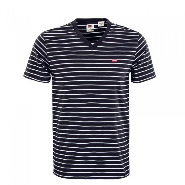 Herren T-Shirt - Orignal HM V Neck Two Color Jet - Black