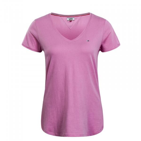 Damen T-Shirt V Soft Jersey Rose