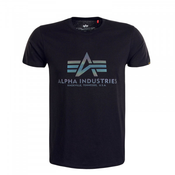 Herren T-Shirt Basic Rainbow Ref. Black