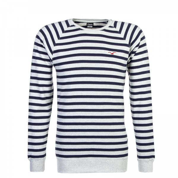 Clepto Sweat Classic Stripe 2 Grey Navy