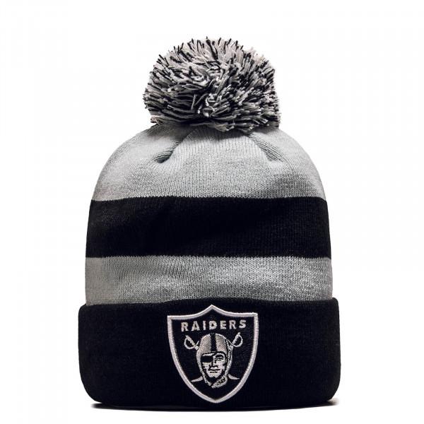 Beanie Cuff Knit Oakrai Black Grey