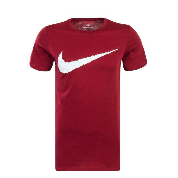 Nike TS Hangtag Swoosh Bordeaux White
