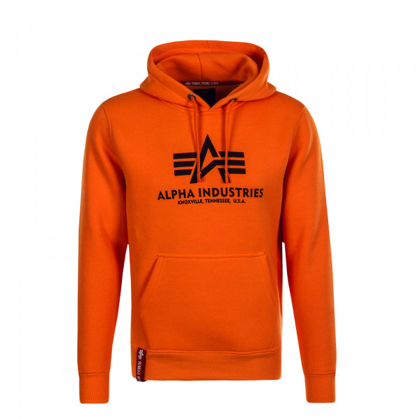 Herren Hoody Basic Neon Orange