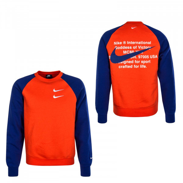 Herren Sweater Swoosh 4865 Orange Royal