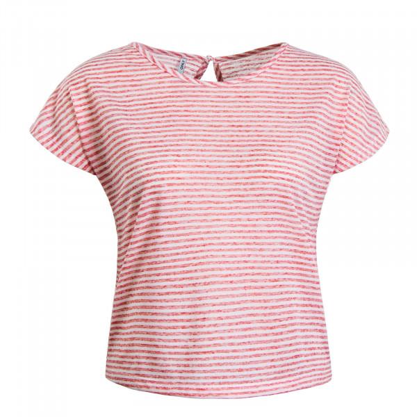 Damen T-Shirt Winnie Stripe Red White