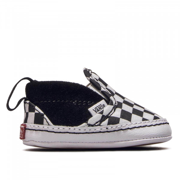 Baby Slip On V Crib Black White Checkerboard