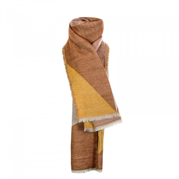 Only Scarf Tilla Weaved Yellow Red