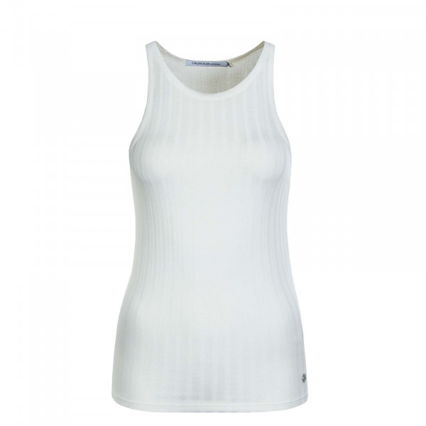 Damen Slim Rib Tank Top Egret
