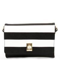 House Of Envy Bag Cute Stripe Black Wht