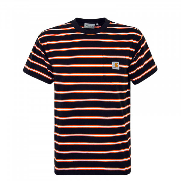 Herren T-Shirt Houston Pocket Stripe Black