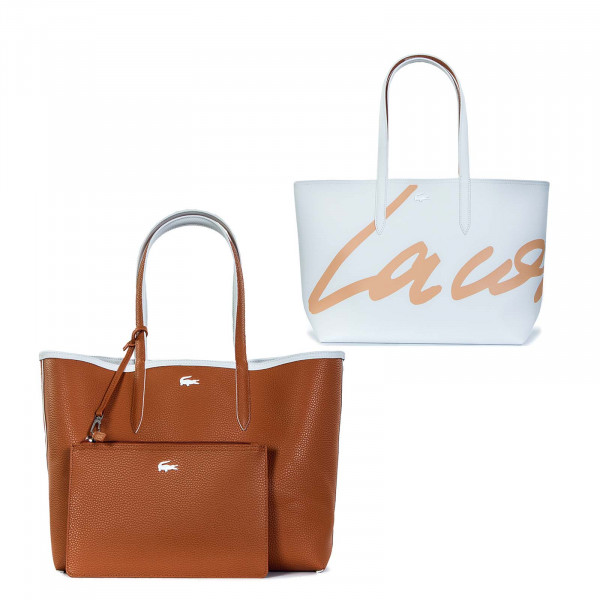 Damen Tasche - Shopping Bag Typo Blanc - Poudriere