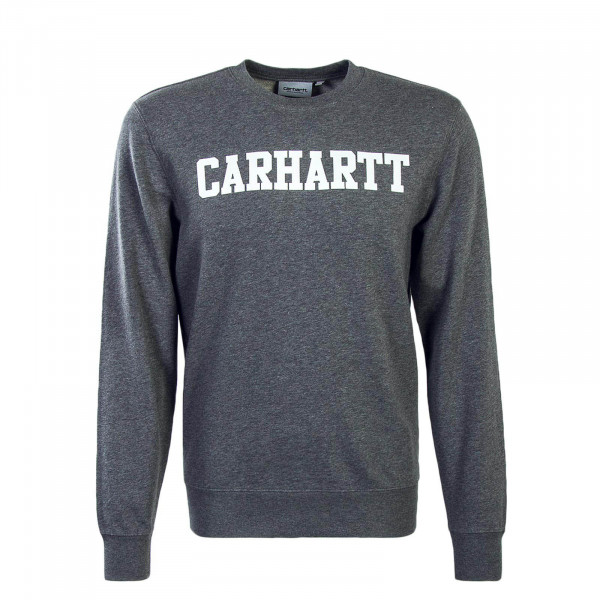 Carhartt Sweat College Dark Grey White