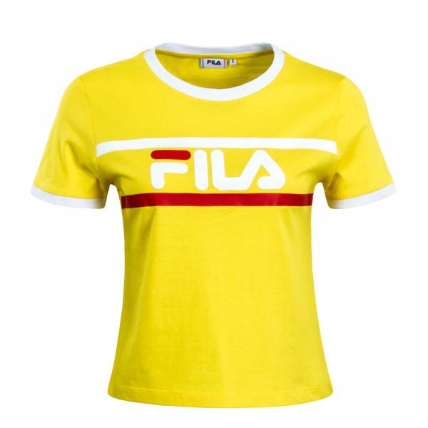Damen T-Shirt Ashley Yellow White